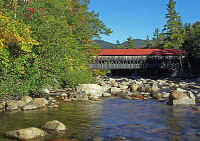 Albany Covered Bridge In The White Mountains Art Print