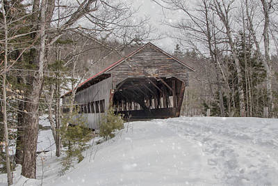 Photograph - Albany Covered Bridge In Winter  by Betty  Pauwels
