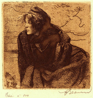 Albert Besnard, French 1849-1934, Melancholy Mélancolie Art Print
