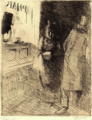 Prostitution Drawing - Albert Besnard, French 1849-1934, Prostitution La by Litz Collection