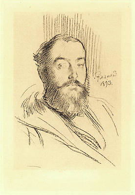 Self-portrait Drawing - Albert Besnard, French 1849-1934, Self-portrait by Litz Collection