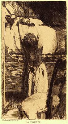 Albert Besnard, French 1849-1934, The Doll La Poupée Art Print