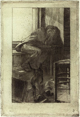 Studio Drawing - Albert Besnard French, 1849 - 1934, The Roman Studio by Quint Lox