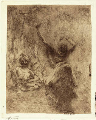 Brown Tones Drawing - Albert Besnard, The Dancer Of Tanjore La Bayadère De by Quint Lox