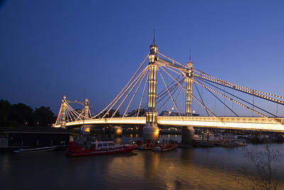 Abstract Skyline Rights Managed Images - Albert Bridge London Royalty-Free Image by David French
