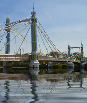 Photograph - Albert Bridge London Thames  by David French