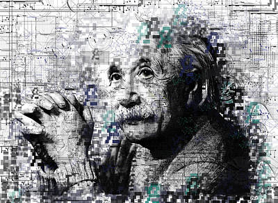 Genius Wall Art - Painting - Albert Einstein 2 by Bekim Art