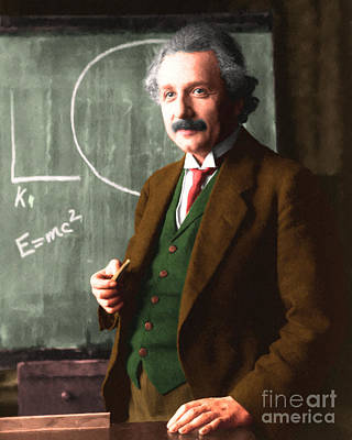 Quantum Science Digital Art - Albert Einstein 20140910 by Wingsdomain Art and Photography