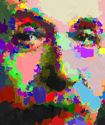 Painting - Albert Einstein - Abstract 02 by Samuel Majcen