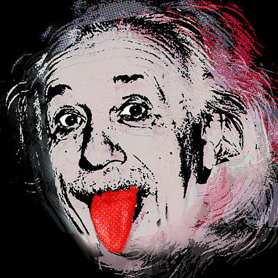 Albert Einstein And Tongue Original