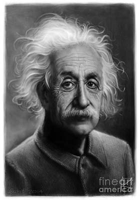 Andre Drawing - Albert Einstein by Andre Koekemoer