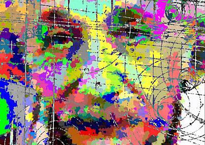 Painting - Albert Einstein - Atomic Particles 01 by Samuel Majcen