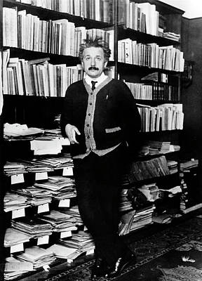 Einstein Photograph - Albert Einstein by Carl Weinrother, Bettman Archive, Bildarchiv Preussischer Kulturbesitz/emilio Segre Visual Archives/american Institute Of Physics