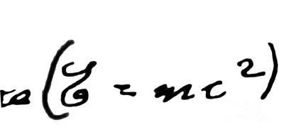 Einstein Drawing - Albert Einstein Equation by Granger