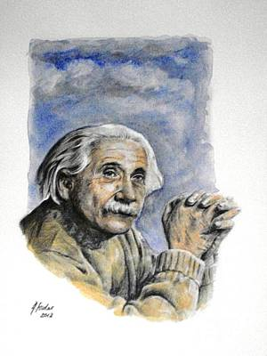 Theory Of Relativity Painting - Albert Einstein by Henry Goode Gallery