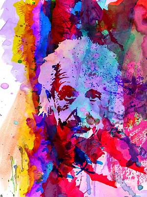 Einstein Painting - Albert Einstein by Naxart Studio