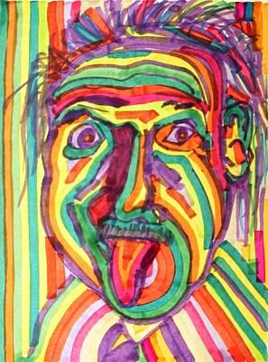 Einstein Drawing - Albert Einstein by Jacob Alexander Kendall