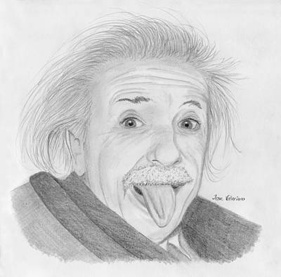 Drawing - Albert Einstein by M Valeriano