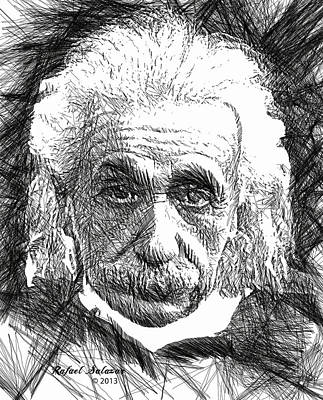 Digital Art - Albert Einstein by Rafael Salazar