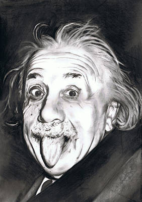 Einstein Drawing - Albert Einstein by Shane Cunningham