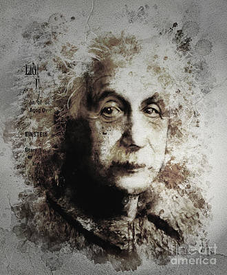 Albert Einstein Art Print by Shanina Conway