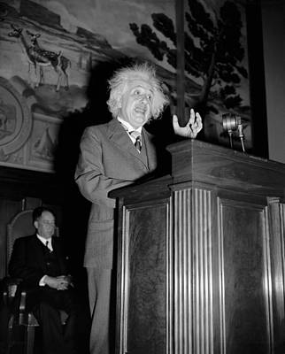 Albert Einstein Speaking Art Print
