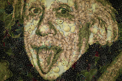 Jewish Humor Painting - Albert Einstein Sticking His Tongue Vegetables Art by Eti Reid
