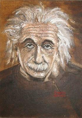 Painting - Albert Einstein by Virginia M Grenci