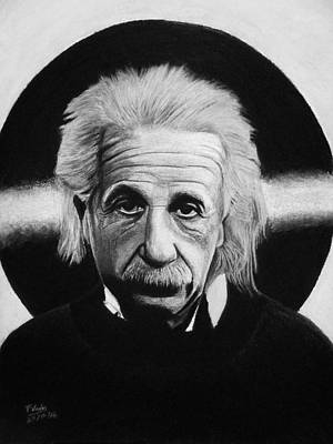 Drawing - Albert Einstein by Vishvesh Tadsare