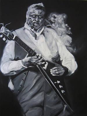 Dallas Drawing - Albert King by Steve Hunter