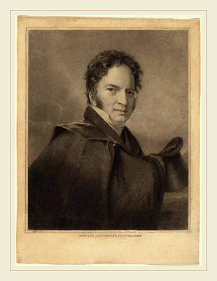 Sully Drawing - Albert Newsam After Thomas Sully, Gideon Fairman, American by Litz Collection