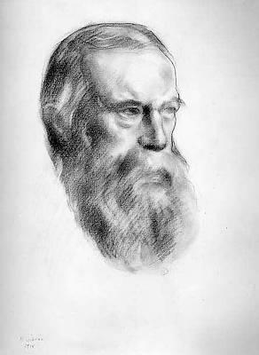 Kahlil Gibran Drawing - Albert Pinkham Ryder by Kahlil Gibran