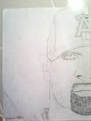 Albert Pujols Drawing - Albert Pujols by Josh Taylor