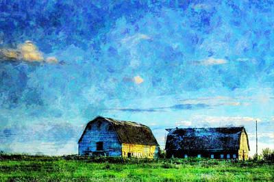 Alberta Barn At Sunset Art Print