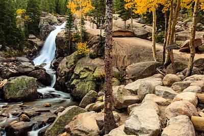Photograph - Alberta Falls 2 by Ben Graham