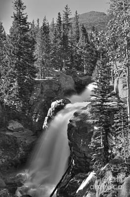 Photograph - Alberta Falls In B-w by David Bearden