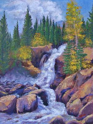 Painting - Alberta Falls by Margaret Bobb