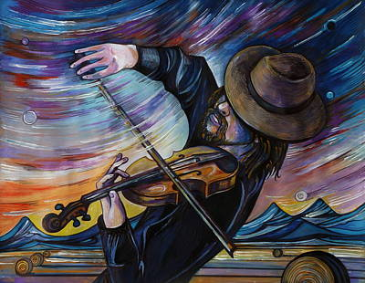 Alberta Drawing - Alberta Fiddle by Anna  Duyunova
