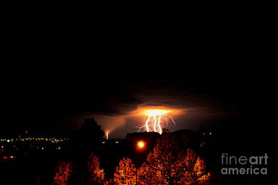 Alberta Lightning Iv Art Print by Al Bourassa