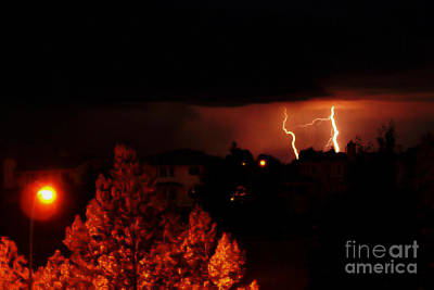 Lightning Bolt Photograph - Alberta Lightning Vi by Al Bourassa