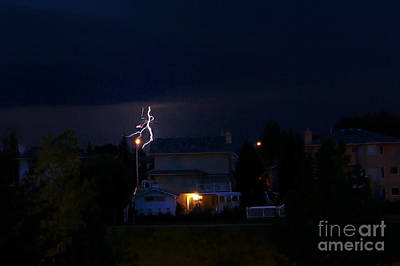 Lightning Bolt Photograph - Alberta Lightning Viii by Al Bourassa