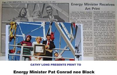 Drawing - Energy Minister by Cathy Long