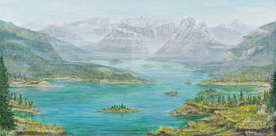 Painting - Alberta Rocky Mountains by Cathy Long