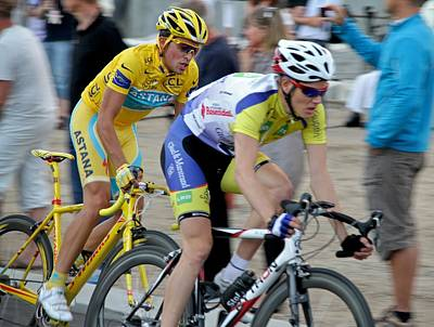 Bicycle Racing Photograph - Alberto Contador Pursuit by Odd Jeppesen