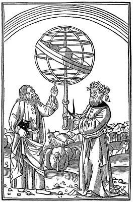 Cosmology Painting - Albertus Magnus (1193-1280) by Granger