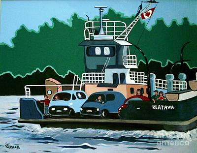 Art Print featuring the painting Albion Ferry by Joyce Gebauer