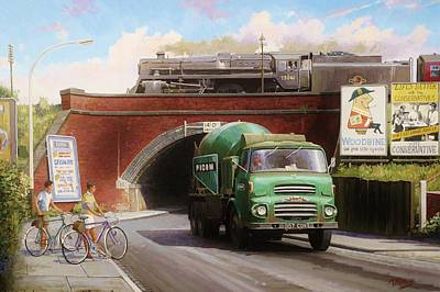 Streetscenes Painting - Albion Mixer. by Mike  Jeffries