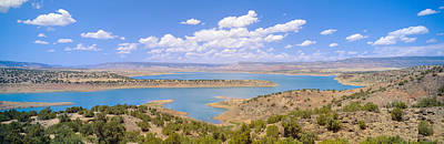 Desert Lake Photograph - Albiquiu Reservoir, Route 84, New Mexico by Panoramic Images