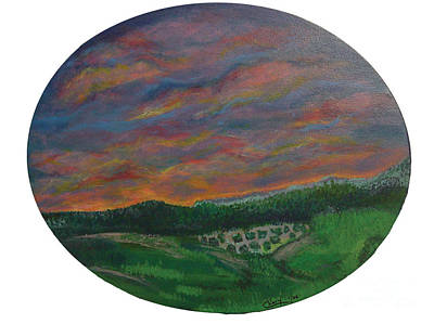Lush Mixed Media Painting - Alborada En Rancho Luna Dawn In Rancho Luna by Chary Castro-Marin