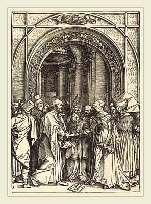 Albrecht Dürer German, 1471-1528, The Betrothal Art Print
